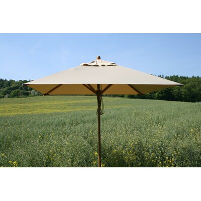 7 x 10 Levante Rectangular Market Umbrella Fabric: Ecru