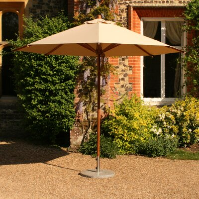 Round Bamboo Market Umbrella Fabric Blue - Product photo