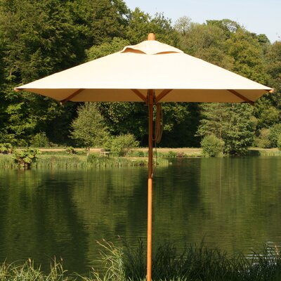 10 Levante Square Market Umbrella Fabric: Ecru