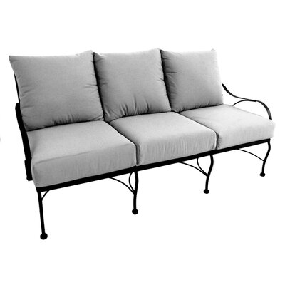 Monticello Deep Seating Sofa Fabric: Canvas Spa