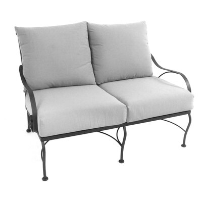 Monticello Deep Seating Loveseat with Cushion Fabric: Canvas Cocoa