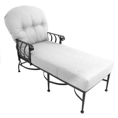 Athens Chaise Lounge with Cushion Fabric: Canvas Aruba