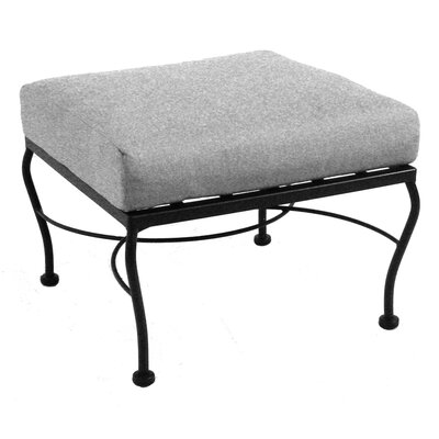 Monticello Ottoman with Cushion Fabric: Dupione Sand