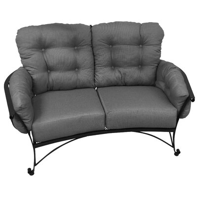Vinings Loveseat with Cushion Fabric: Harwood Crimson