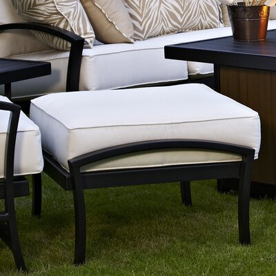 Maddux Ottoman with Cushion Fabric: Rumor Bamboo