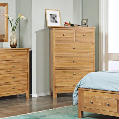 Cottage 5 Drawer Chest Finish: Wheat