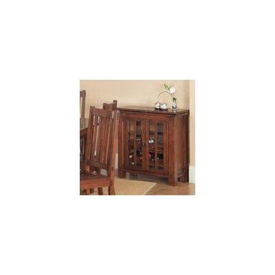 Fergus County 9 Bottle Floor Wine Cabinet