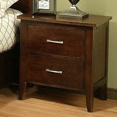Firefly 2 Drawer Nightstand Color: Chocolate