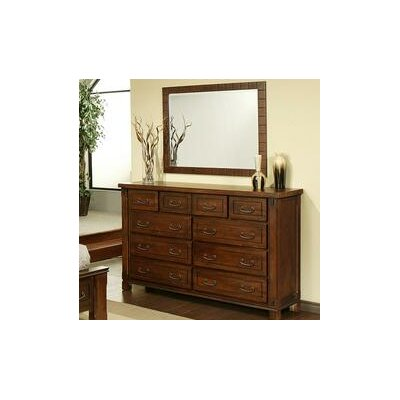 Fergus County 10 Drawer Dresser with Mirror