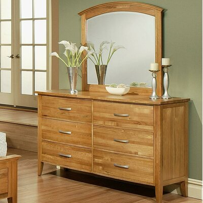 Firefly 6 Drawer Dresser with Mirror