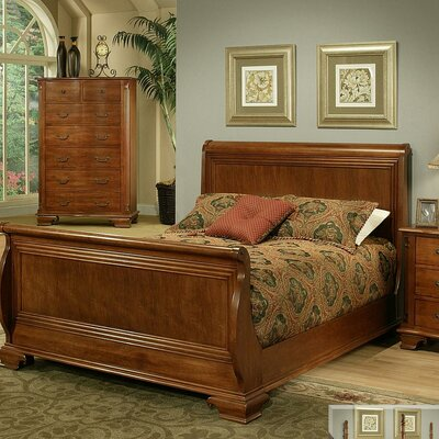 American Heritage Sleigh Bed Size: Queen