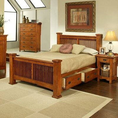 Heartland Manor Storage Panel Bed Size: California King