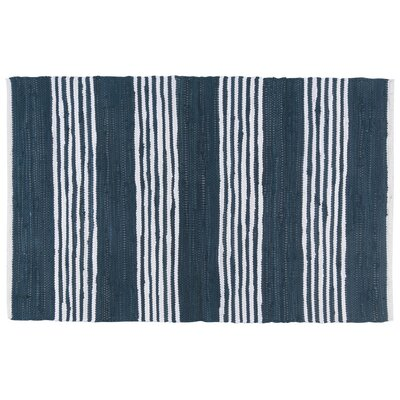 Hand-Woven Area Rug Color: Blue