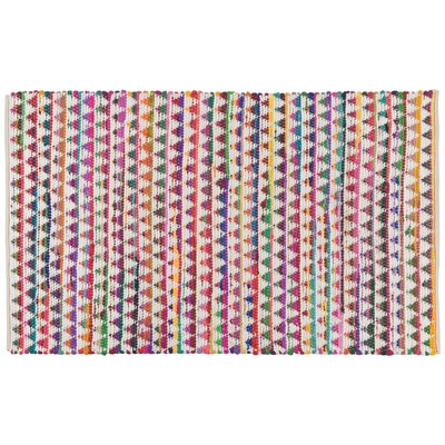 Rosborough Hand-Woven Blue/Pink Area Rug