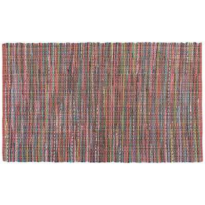 Peters Hand-Woven Red/Green Area Rug