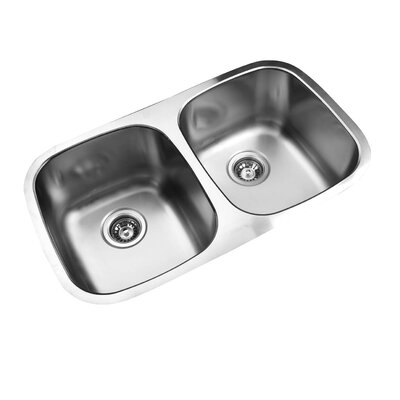 30.33 x 17.75 Undermount Double Bowl Stainless Steel Kitchen Sink