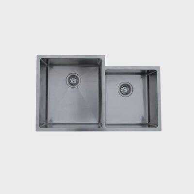 20.5 x 16 Undermount Double Bowl Stainless Steel Kitchen Sink