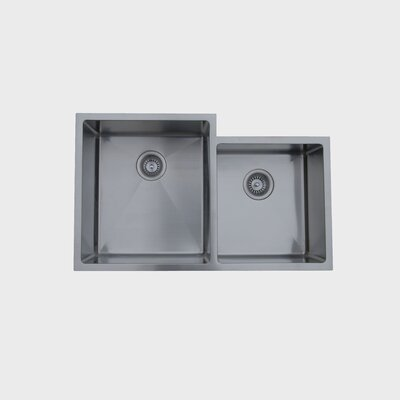 33.5 x 20.5 Micro Series Double Bowl Undermount Kitchen Sink