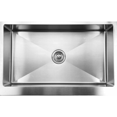 33 x 21 Straight Apron Front Single Bowl Undermount Kitchen Sink