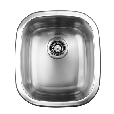 15.5 x 17.75 Dual Mount Single Bowl Kitchen Sink