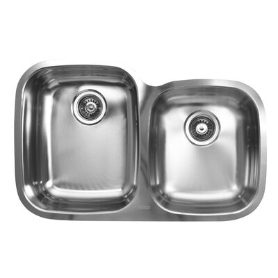 31.5 x 20.5 x 10 Double Bowl Undermount Kitchen Sink