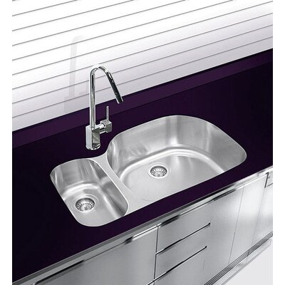 "32"" x 20.75"" Undermount Double Bowl Stainless Steel Kitchen Sink D537.70.30.10L.G"