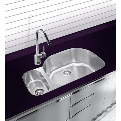 31.5 x 16.25 Undermount Double Bowl Stainless Steel Kitchen Sink