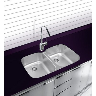 32.75 x 20.5 Undermount Double Bowl Stainless Steel Kitchen Sink