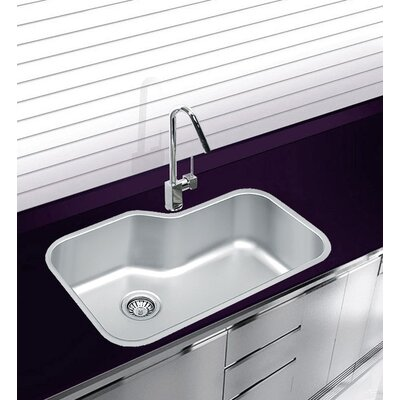 30 x 19.25 Undermount Single Bowl Stainless Steel Kitchen Sink