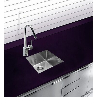 17.75 x 15.375 Undermount Single Bowl Stainless Steel Kitchen Sink