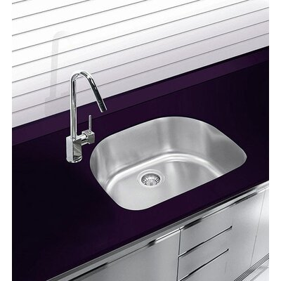 22.75 x 20.5 Undermount Single Bowl Stainless Steel Kitchen Sink