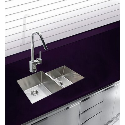 33.5 x 17.5 Undermount Double Bowl Stainless Steel Kitchen Sink