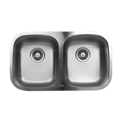 30.33 x 17.75 Double Bowl Undermount Kitchen Sink