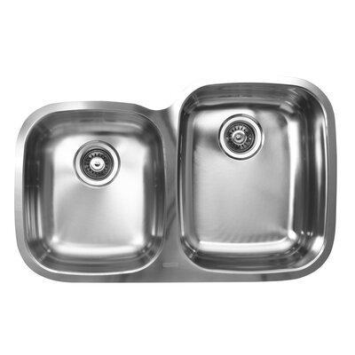 31.5 x 20.5 x 10 Double Bowl Undermount Kitchen Sink