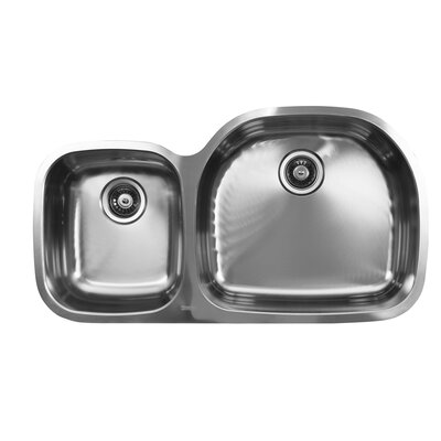 38 x 20.75 Double Bowl Undermount Kitchen Sink