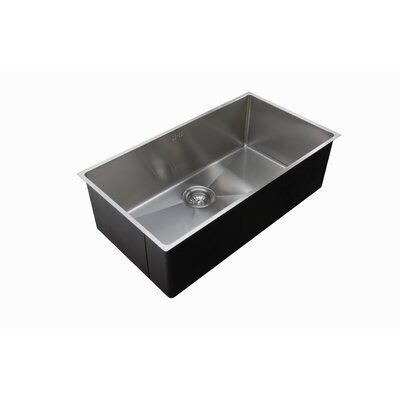 Micro Series 33 x 18 Single Bowl Undermount Kitchen Sink
