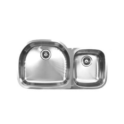 38 x 20.5 Double Bowl Undermount Kitchen Sink