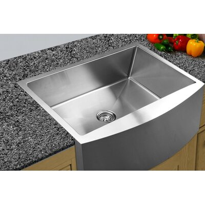 33 x 22.25 Apron Front Single Bowl Stainless Steel Kitchen Sink