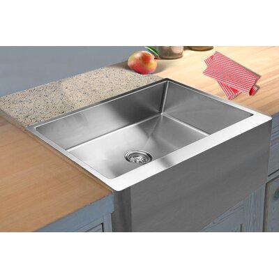 33 x 21 Apron Front Single Bowl Stainless Steel Kitchen Sink