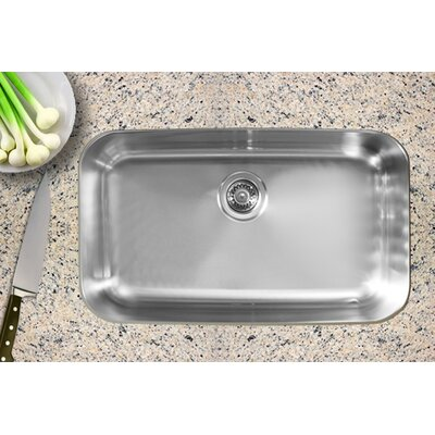 30.5 x 18.5 Single Bowl Undermount Kitchen Sink