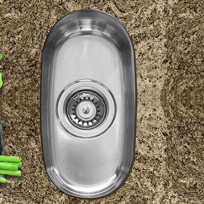 8 x 15 Single Bowl Undermount Kitchen Sink