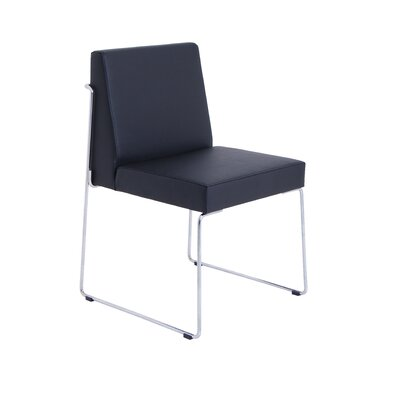 Astoria Side Chair in Eco-leather - Black