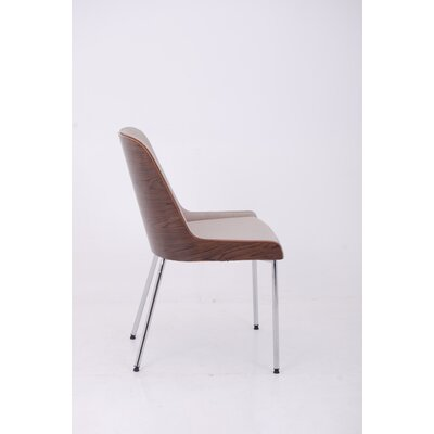 Hudson Side Chair with Steel Legs Upholstery: Eco-leather - Black