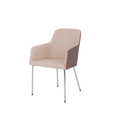 Hudson Upholstered Dining Chair Color: Cream