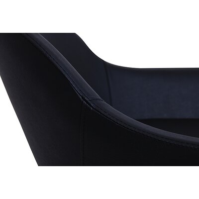 Chelsea Lounge Chair Upholstery: Eco-leather - Black