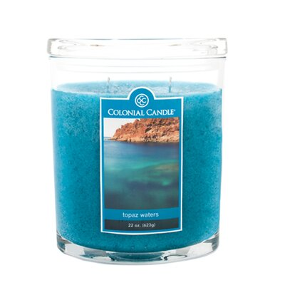 Colonial Candle Topaz Waters Jar Candle - Size: 22 Oz. (Set of 4) at Sears.com