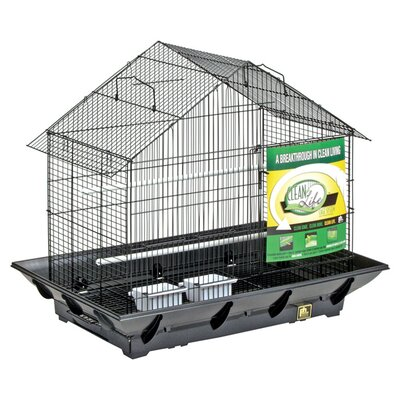 Clean Life House Bird Cage Color: Black