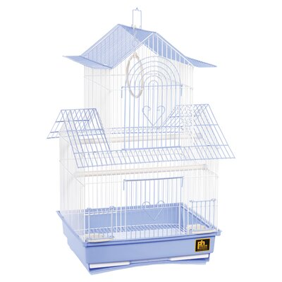 Shanghai Parakeet Bird Cage Color: Blue / White
