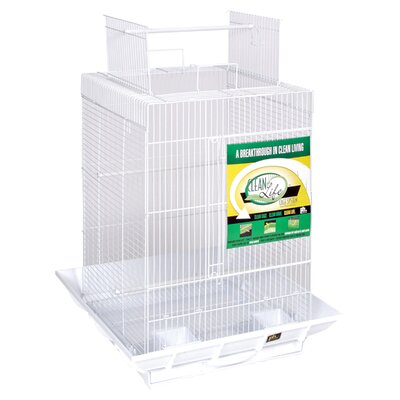 Clean Life PlayTop Bird Cage Color: White