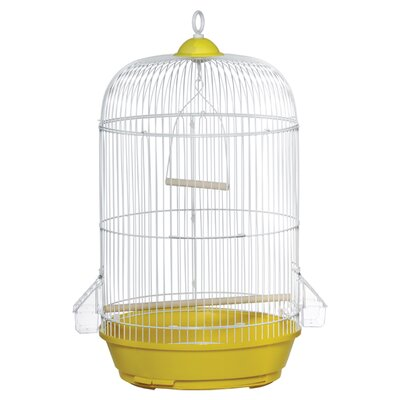 Classic Round Bird Cage Color: Yellow